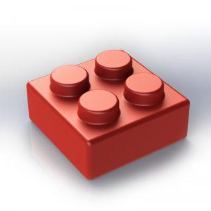 Náhradní stavební kostka XXL: 4-bodová červená