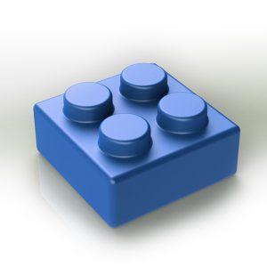 Náhradní stavební kostka XXL: 4-bodová modrá