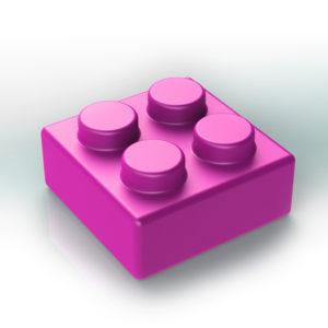 Náhradní stavební kostka XXL: 4-bodová růžová