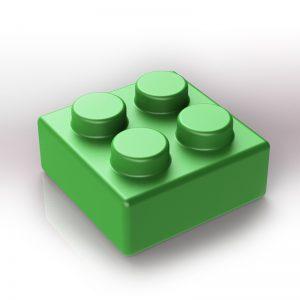 Náhradní stavební kostka XXL: 4-bodová zelená
