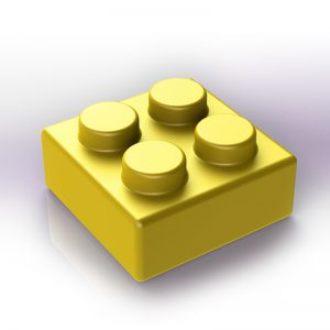 Náhradní stavební kostka XXL: 4-bodová žlutá