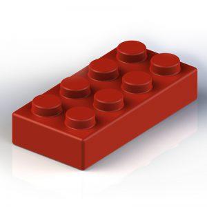 Náhradní stavební kostka XXL: 8-bodová červená