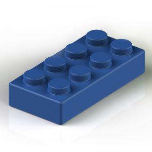 Náhradní stavební kostka XXL: 8-bodová modrá