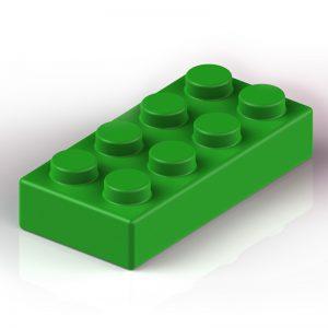 Náhradní stavební kostka XXL: 8-bodová zelená
