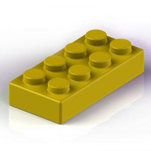 Náhradní stavební kostka XXL: 8-bodová žlutá