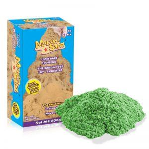 Měsíční písek Náhradní balení – MOTION SAND 800g – zelená barva