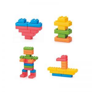 Sada kostek XXL NERO : dětská sada 26 barevných XXL cihliček