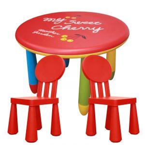 Set dětského plastového stolu a 2 židliček – NERO SET 1