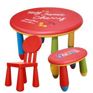 Sada dětského plastového stolu s židličkou a stoličkou – NERO SET 2