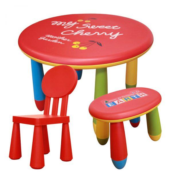 Dětský nábytek - stůl se židlí a stoličkou