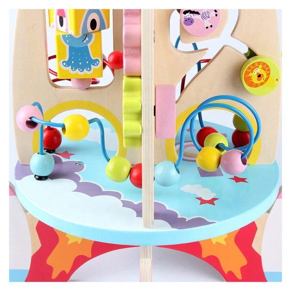 Dřevěný edukativní hrací stůl