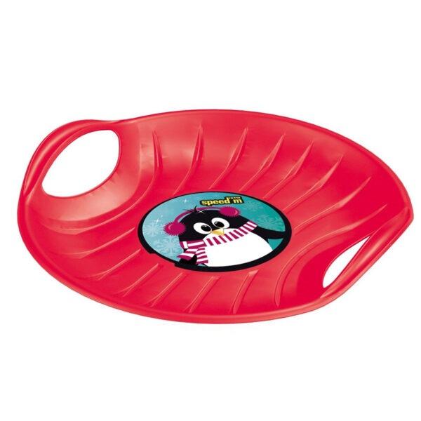 Kruhový kluzák na sníh speed M červené barvy