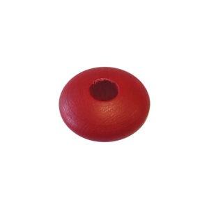 Dřevěný korálek – Disk 3002 26/12/8mm červená