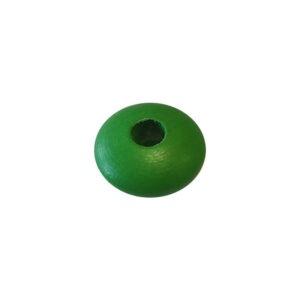 Dřevěný korálek – Disk 26/12/8mm zelená