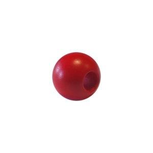 Dřevěný korálek – Koule 25/10mm červená