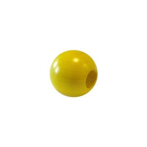 Dřevěný korálek – Koule 1175 25/10mm žlutá